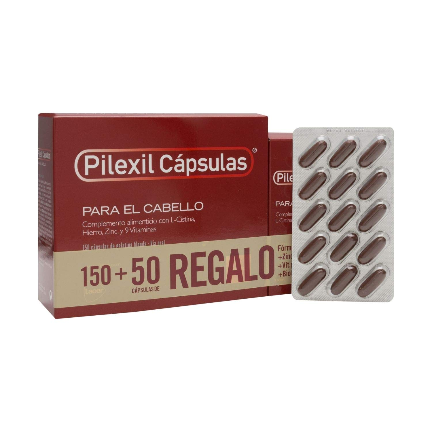 Amazon.com : Pilexil Hair Loss Capsules - Stimulate Hair Growth - 150 Capsules + 50 Gift Capsules : Beauty