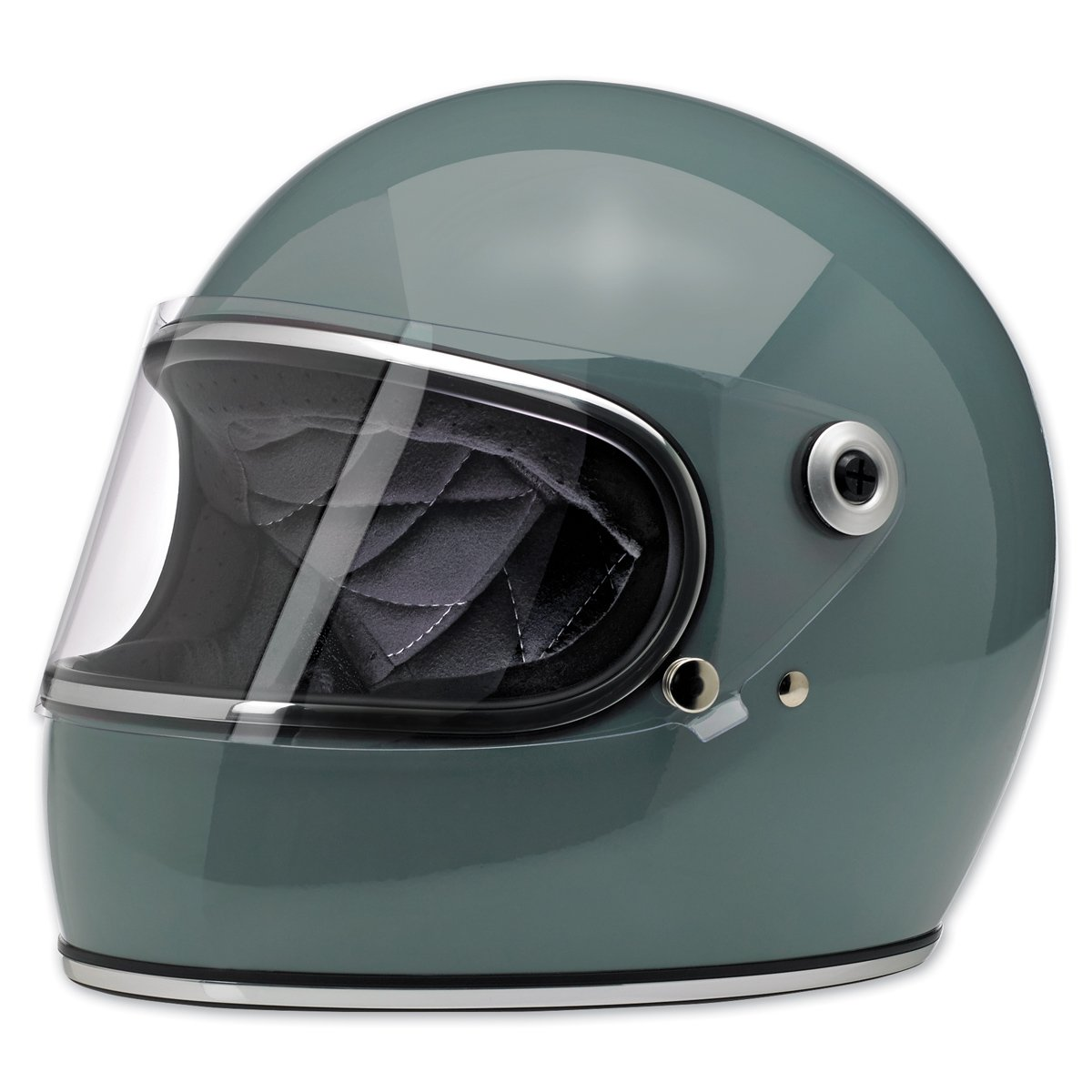 Biltwell Inc. Gringo S Gloss Agave Full Face Helmet, X-Small