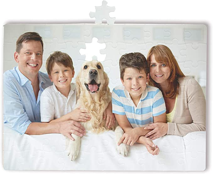 O BOSSTOP 6 Puzzles 19cm*23.8cm Blank White DIY Custom Jigsaw Puzzle 80-Pieces Per Package Personalised Jigsaw Puzzle with Your Favorite Picture for Sublimation Blanks Heat Press: Amazon.co.uk: Toys & Games