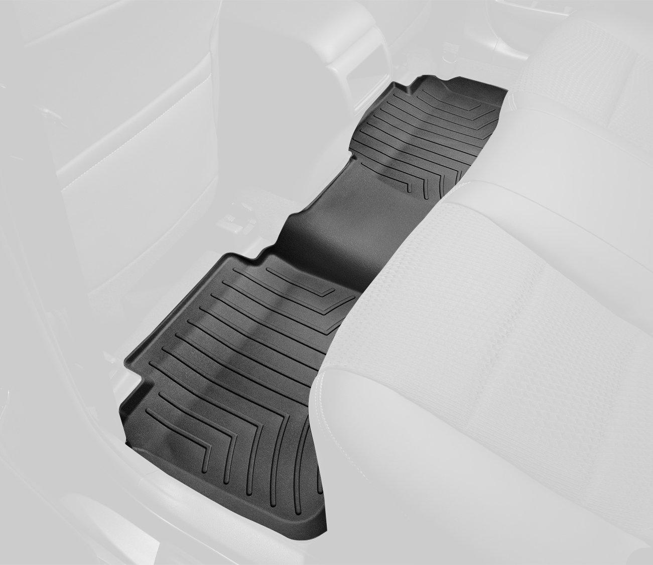 WeatherTech Custom Fit Rear FloorLiner for Mitsubishi Outlander (Black) 441622