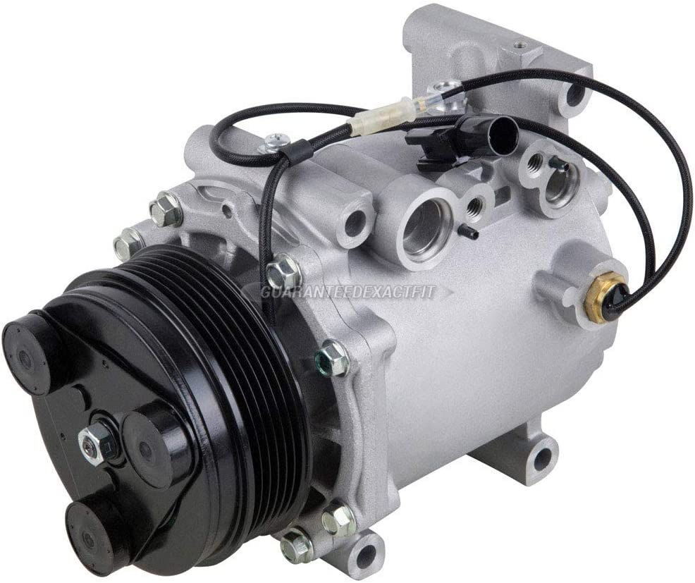 BuyAutoParts 60-86375R2 NEW For Mitsubishi Endeavor Galant Eclipse AC Compressor w//A//C Drier
