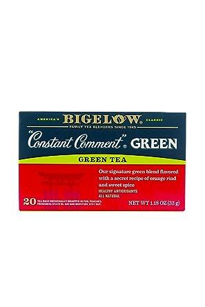 Bigelow Constant Comment Bolsas de Té Verde – 20 ct – 3 ...