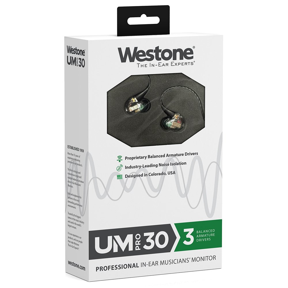 Westone Um Pro 30 Triple Driver Universal Fit In Ear Baby Boomer 600w Dual 8quot Subwoofer Electronicswoot Musicians Monitors With Removable Mmcx Audio Cable Electronics