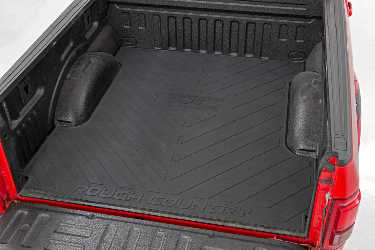 Rough Country Rubber Bed Mat Recycled Bed Liner RCM600 6.4 FT Bed 2003-2018 RAM Truck fits
