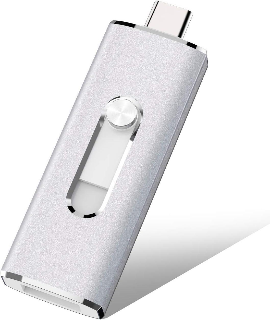 USB C Flash Drive, K&ZZ 64GB 2 in 1 OTG USB Flash Drive Dual Drives(USB 3.1 Gen 2 + USB 3.0) Memory Stick Thumb Drive for Computer, MacBook,Tablet, Pixel,Samsung Galaxy