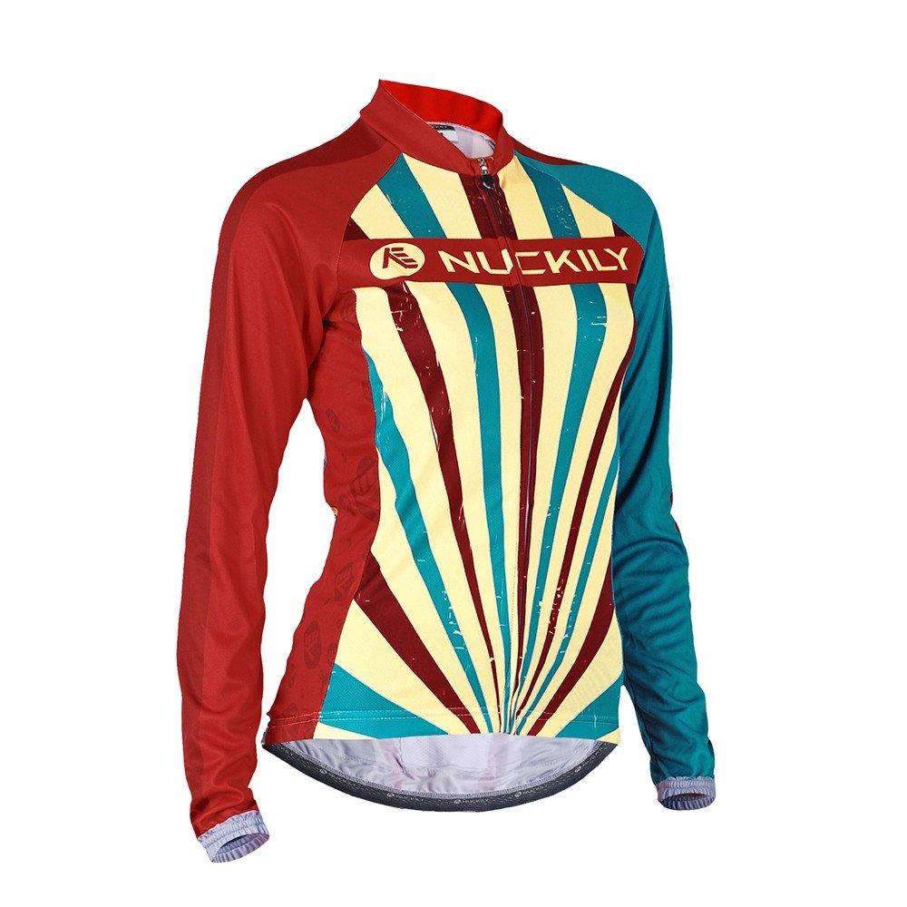 NUCKILY Women Cycling Jersey Long Sleeve Bike Clothing Summer Custom Designed