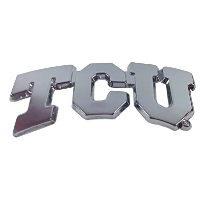 TCU Metal Auto Emblem (Improved Open Design): Arts, Crafts & Sewing