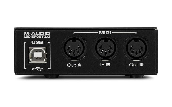 Amazon.com: M-Audio midiman midisport 2 x 2 Interfaz USB ...