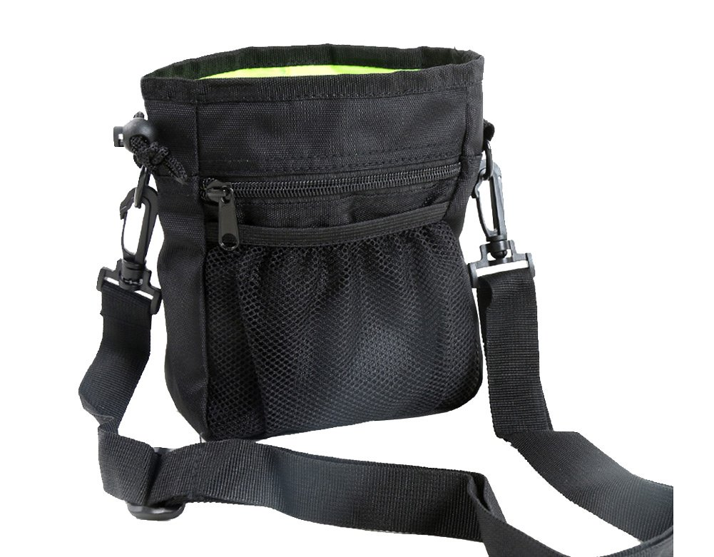 Dog Treat Pouch,Training Bag with Adjustable Waist Belt Shoulder Strap,Carry Pet Toys,Phone,Poop Bag,Dry Bag Sack-3 Ways To Wear -Black by Machao (Image #2)