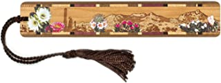 product image for Desert Flowers- Desert Scene Engraved and Colorized Wooden Bookmark with Tassel - Search B079M2F8SN for Personalized Version