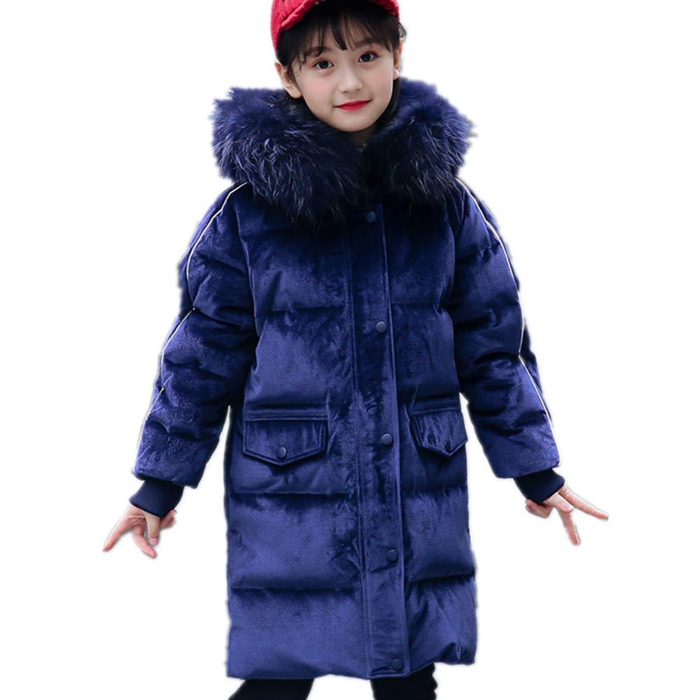 Beide Girls Winter Hooded Fur Down Jacket Velvet Coat