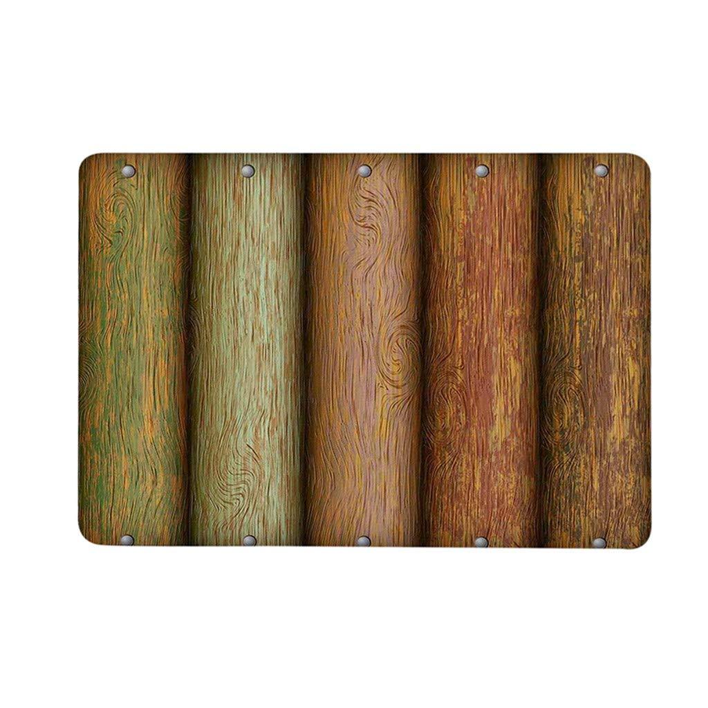 Tapis dextérieur antidérapant pour Tapis de Plancher de Maison de poard de Style Vintage en Bois 40cm x 60cm par Anliyou: Amazon.fr: Cuisine & Maison