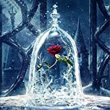 5D Diamond Painting Kit, DIY Rhinestone Embroidery Cross Stitch Arts Craft For Home Wall Decor 11.8*11.8 inch (30*30cm) Frozen Roses