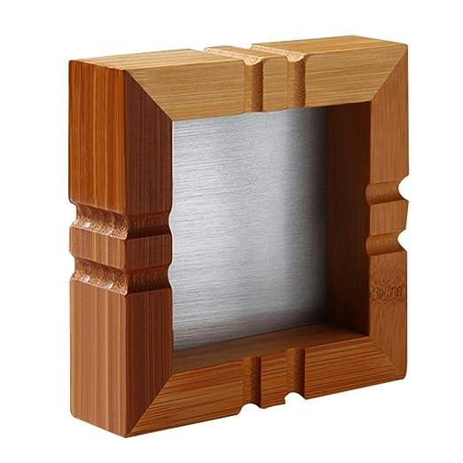 Decoracion de escritorio Cenicero Cenicero De Bambú Mesa De Centro ...