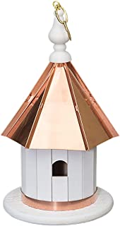 "product image for Saving Shepherd 14"" Hanging Wren Birdhouse - Copper Top Bird House Amish Handcrafted in Lancaster Pennsylvania USA"