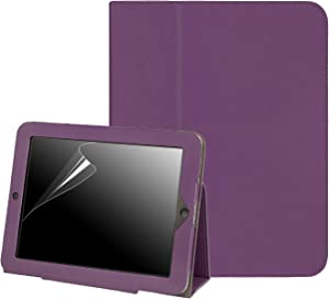 HDE Case for Original iPad 1st Generation - Slim Fit Leather Cover Stand Folio with Magnetic Closure for Apple iPad 1 (Purple)