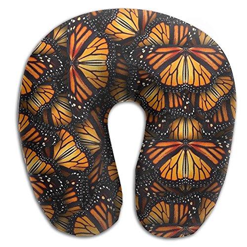 Heaps Of Orange Monarch Butterflies Memory Foam Travel Neck Pillow U Shaped Travel Neck Support Cushion