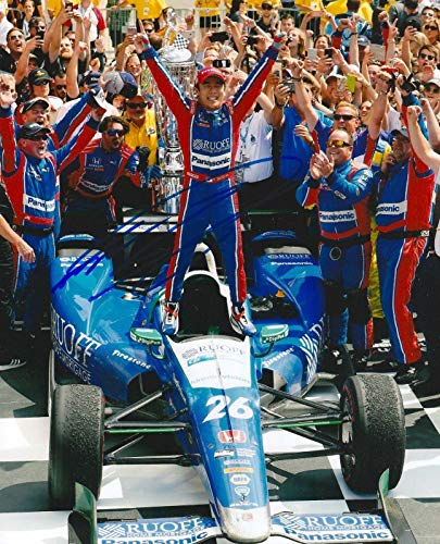 TAKUMA SATO signed 8x10 INDY 500 VICTORY LANE photo IRL INDY with COA A - Autographed Extreme Sports Photos ()