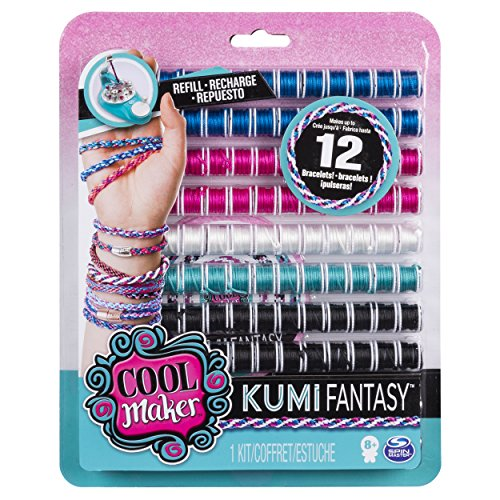 Cool Maker - KumiFantasy Fashion Pack, Makes Up to 12 Bracelets with the KumiKreator, for Ages 8 and Up