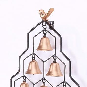 Purity Campanilla de viento con cuentas y campanas de metal reciclado