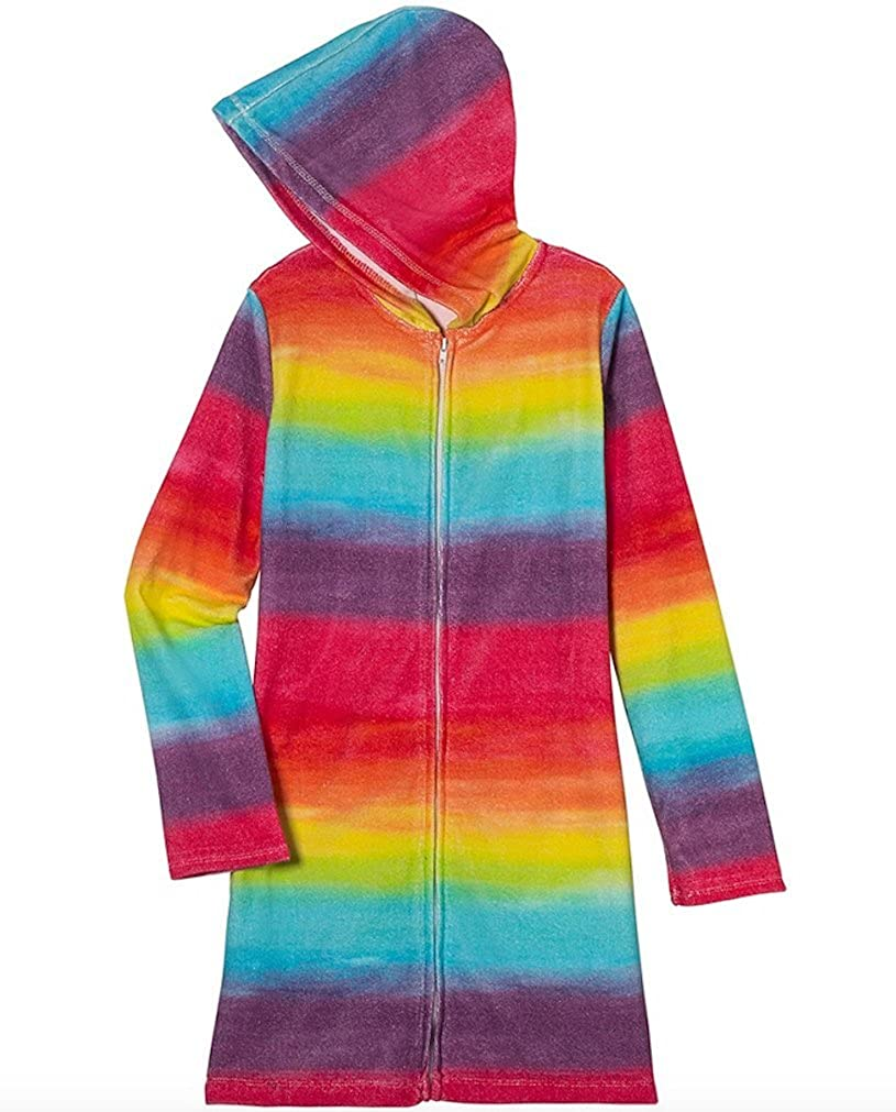 Three Cheers for Girls Big Girls Hooded Cover Up Fits Sizes 6-12