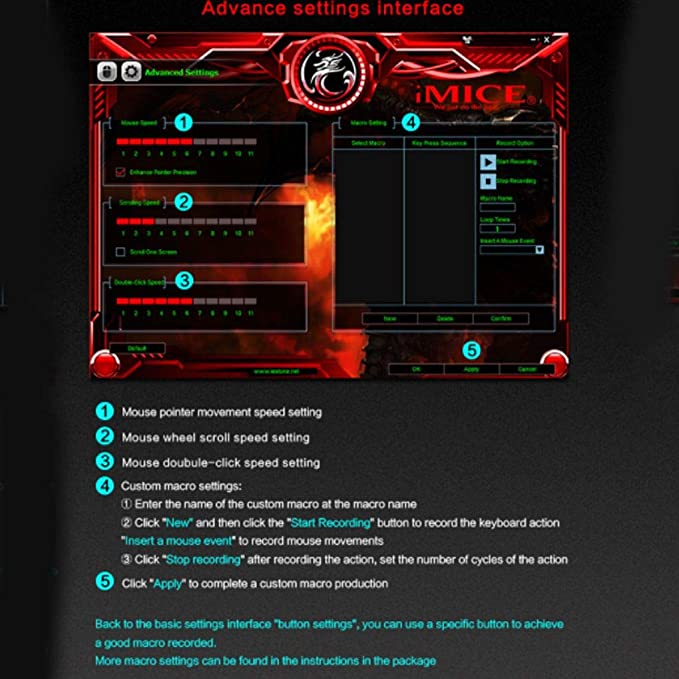fgghfgrtgtg Juegos iMICE V8 con Cable Juego del ratón óptico del ...