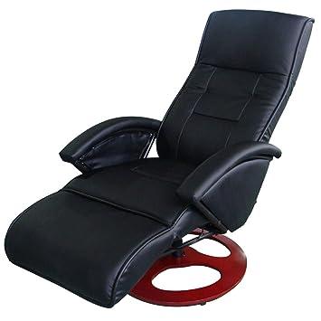 Vidaxl Fauteuil Electrique De Massage Cuir Synthétique Noir Bureau