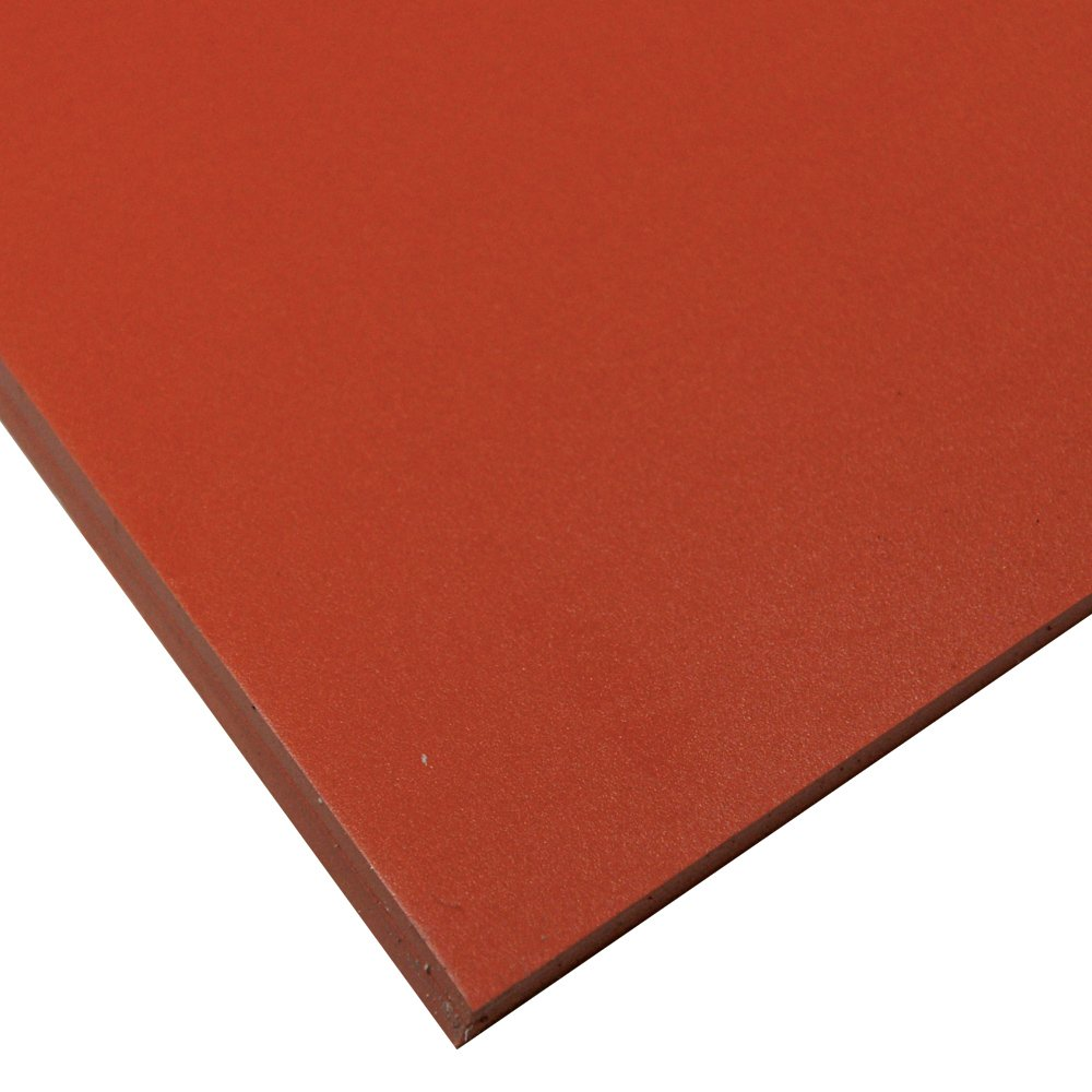 Smooth Finish 50A Durometer Silicone Sheet Red No Backing 36 Length 2 Width 1 mm Thickness