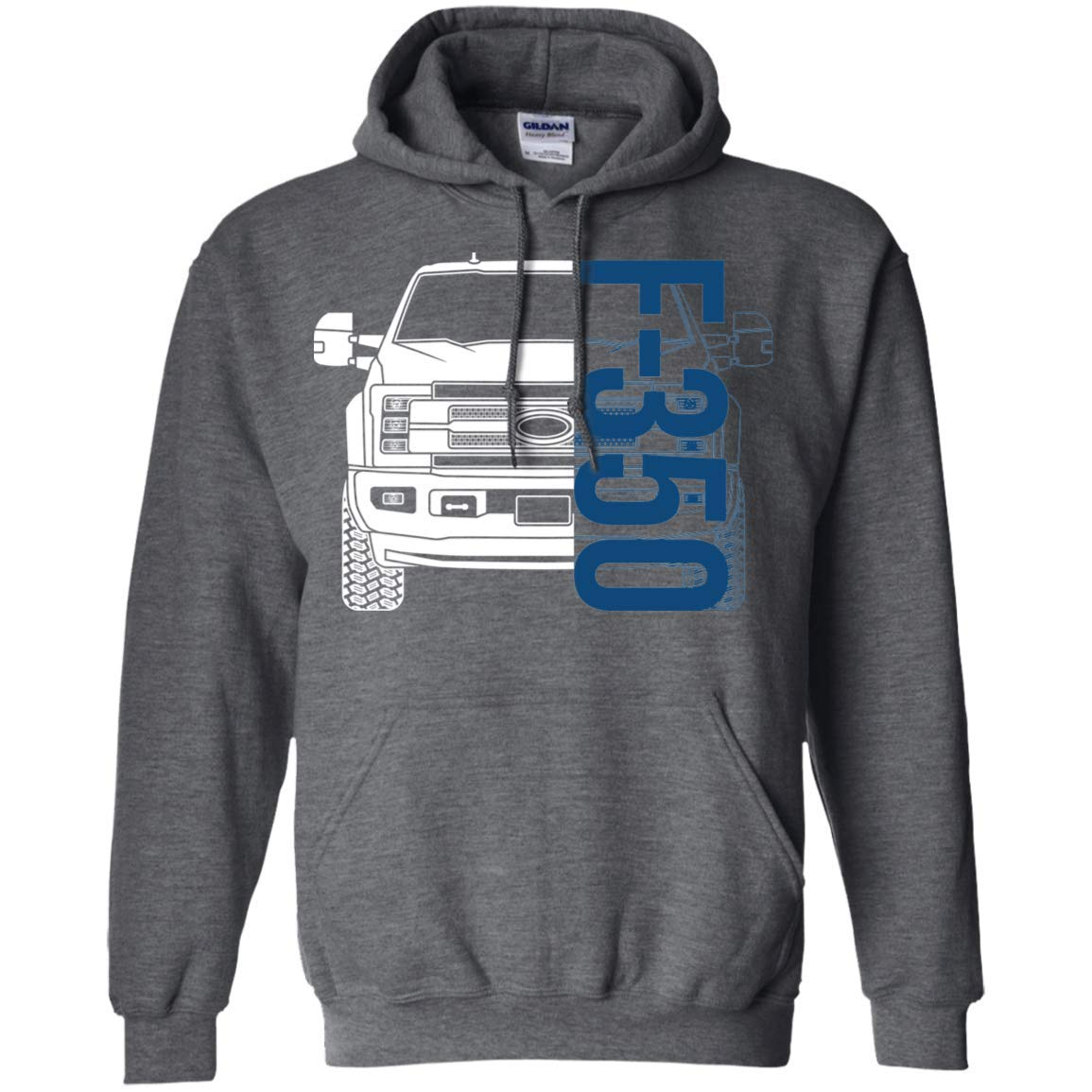 WheelSpinAddict Mens F-350 2017 2018 2019 2020 Pullover Hoodie