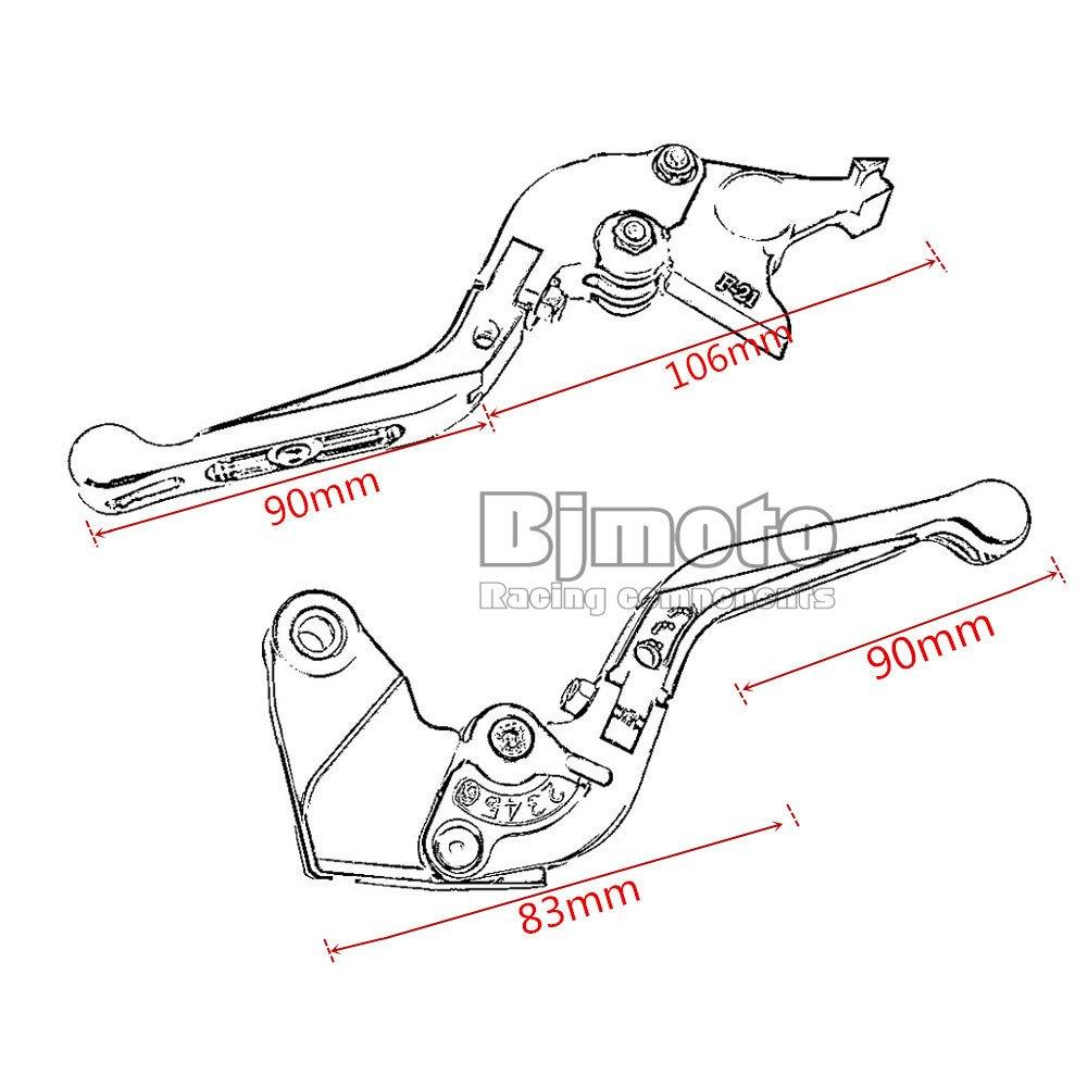Un par de palancas de freno y embrague, de BJ Global, extensibles, plegables y ajustables para Kawasaki: Amazon.es: Coche y moto