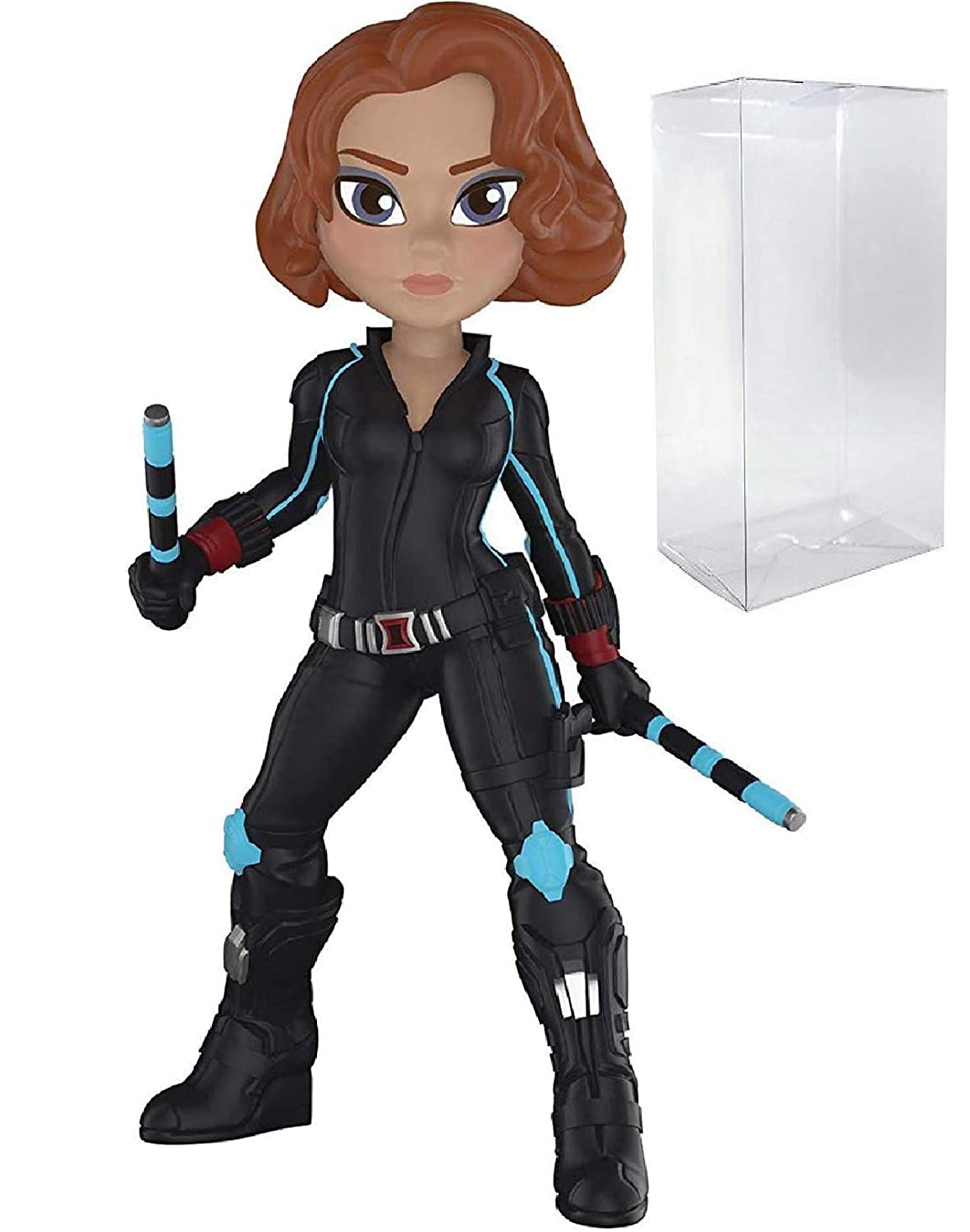 Amazon.com: Funko Rock Candy Marvel Studios 10 - Black Widow Vinyl Figure (Bundled with Pop Box Protector Case): Toys & Games