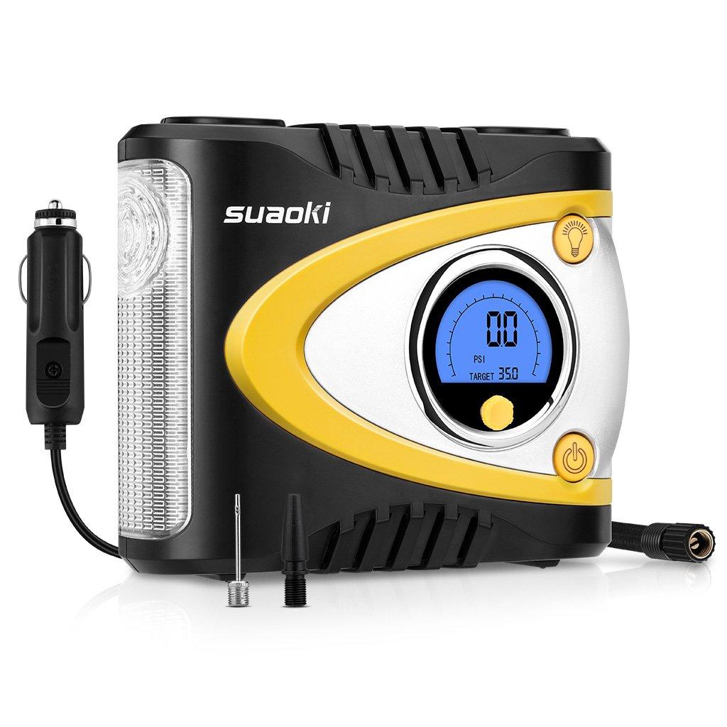 Suaoki BA Compresor de Aire Portátil Digital con Luz LED V DC