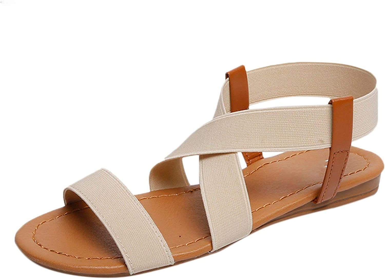 Tiwcer Women Sandals 2019 hot Fashion Women Summer Beach Roman Sandal Ladies Open Toe Flat Sandal Casual Female Shoes #30,Gray,36