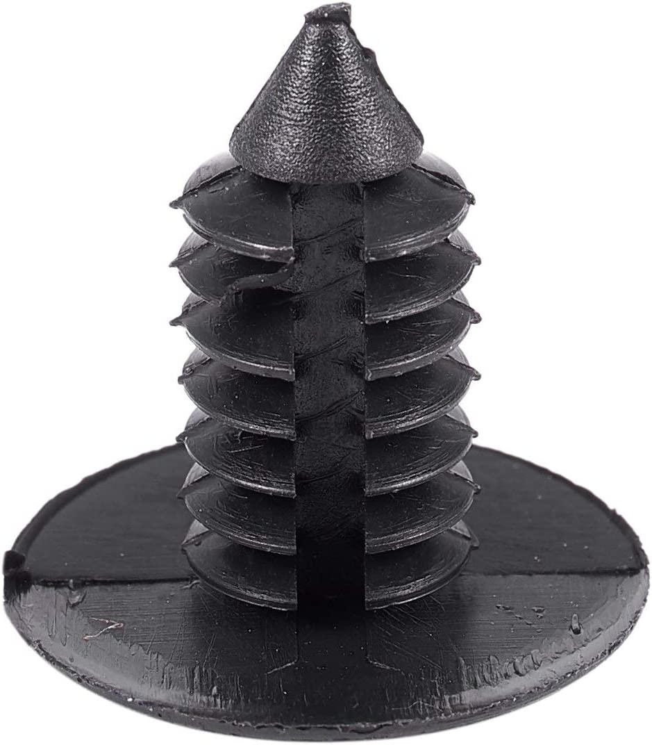 Andifany 24 Pcs Black Plastic Rivets Bumper Push Clips for 9mm Hole Dia