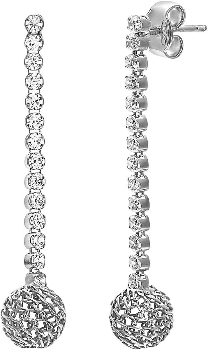 Citerna Pendientes de Mujer con Plata de ley (925) con Cristales Swarovski