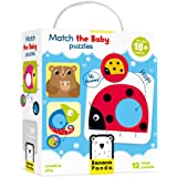 Banana Panda Match The Baby Puzzle Set, Beginner Puzzles & Matching Activity For Kids Ages 18 Months & Up