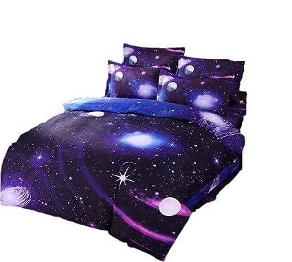 zswell 3d galaxy bedding sets 4pcs mysterious boundless galaxy sky starry night bedding sets bedlinen duvet - Galaxy Bedding Set