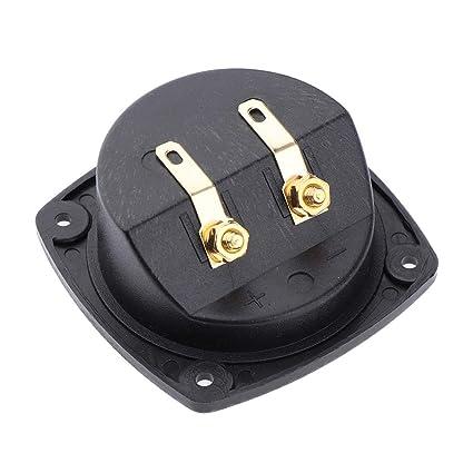 Baoblaze Caja de Conexiones Mini Altavoces Amplificador Dual Conector Subwoofer Terminal Tablero - 3
