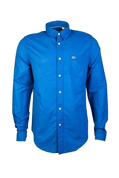 Lacoste - Camisa Casual - Clásico - Manga Larga - para Hombre Azul ...