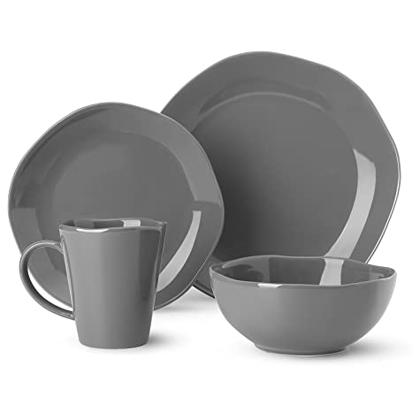 Dishes Dinnerware Set Irregular Glaze Dishware Set?Tableware Set Service for 1?grey  sc 1 st  Amazon.com & Amazon.com | Dishes Dinnerware Set Irregular Glaze Dishware Set ...