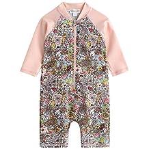 Vaenait Baby 0-24M Baby Girls Swimsuit Rashguard Swimwear Floral