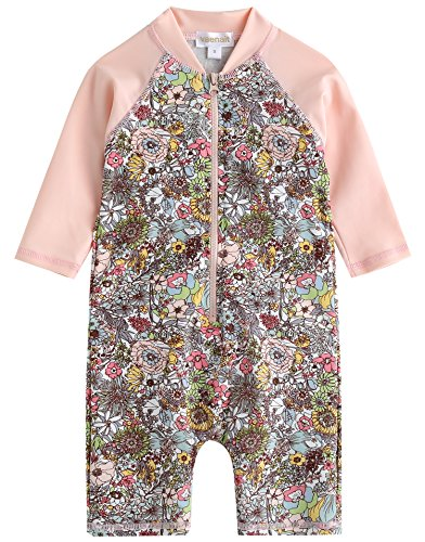 Baby L/s One Piece - Vaenait baby 0-24M Infant Girls Longsleeves One Piece Swimsuit Baby Floral S