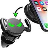 Quarble Little Devil Glowing Eyes 2 in 1 Car Air Vent Dashboard Mount Compatible with Pop Expanding Phone Grip and Stand All Cool Idea (Black)
