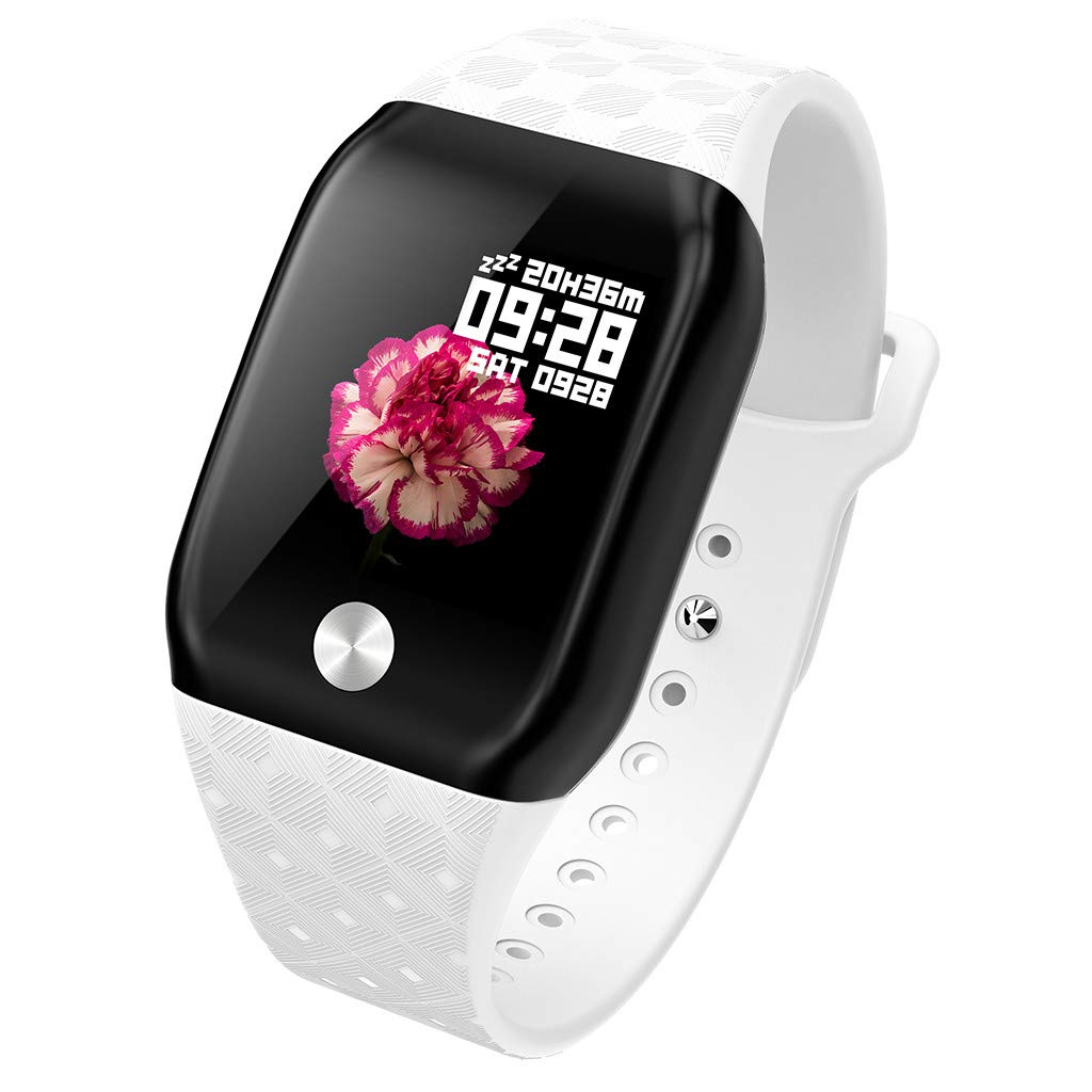 FEDULK Smart Bracelet Sports Fitness Activity Heart Rate Tracker Blood Pressure Bracele Smart Watch(White) by FEDULK