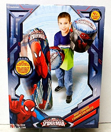Hedstrom 56-82271 Ultimate Spiderman Bop Bag and Gloves Combo Set, 36 inch]()