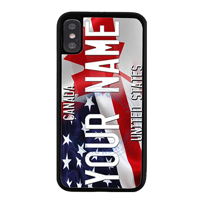 size 40 37a38 fee86 Amazon.com: BleuReign Personalized Custom Name Mixed USA and Canada ...