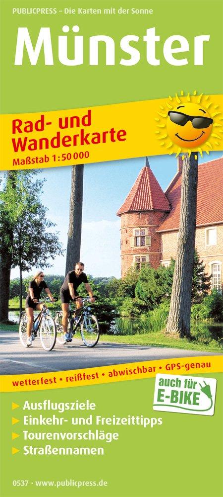 Münster: Rad- und Wanderkarte mit Ausflugszielen, Einkehr- & Freizeittipps, Straßennamen, wetterfest, reissfest, abwischbar, GPS-genau. 1:50000 (Rad- und Wanderkarte / RuWK) Landkarte – Folded Map, 1. Juli 2018 Straßennamen PUBLICPRESS 3747305377 Nordr