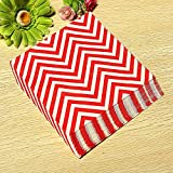 BoatShop 24 PCS Colored Wave Pattern Paper Napkins 2 Layers Party Banquet, Red