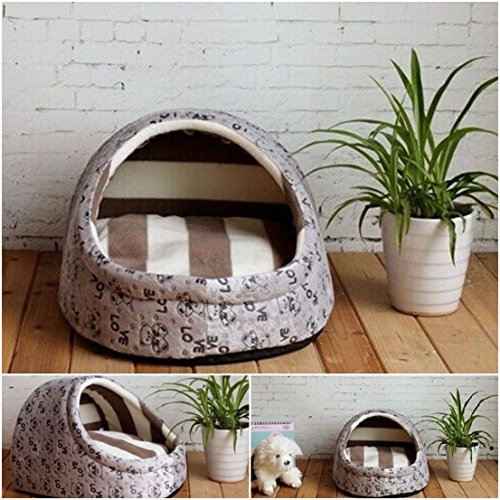 1 Pcs Great Popular Pet Half Covered Bed Size M Cozy House Portable Couch Sleeping Comfort Color Type Gray