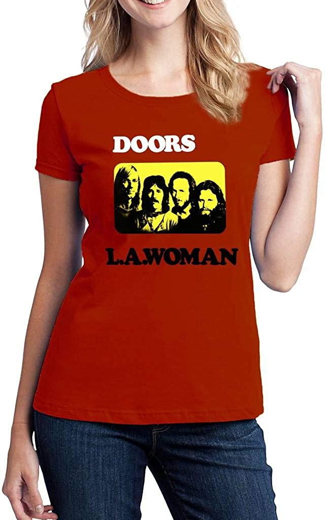THE DOORS BAND SHIRT T-SHIRT BLACK MUSIC ROCK JIM MORRISON SIZES COTTON WOMENS